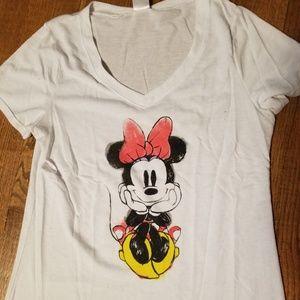 Minnie Mouse white disney t shirt